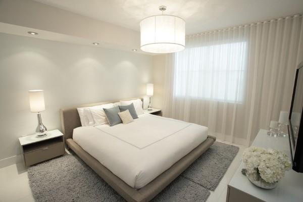 спальня в современном стиле бежевый фон
