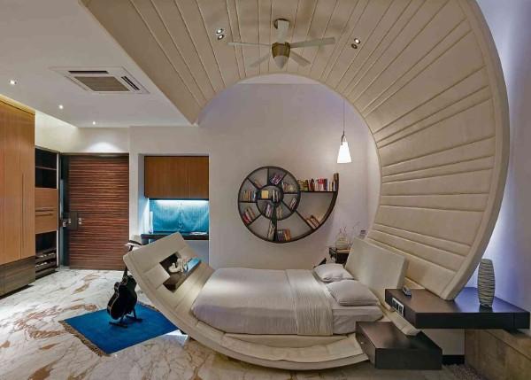 спальня в современном стиле футуристический дизайн