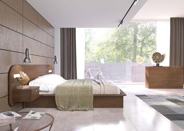 спальня в современном стиле интересный дизайн кровати
