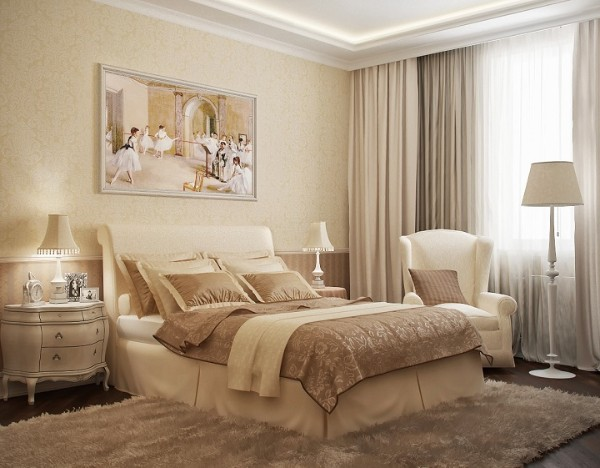 спальня в современном стиле нейтральный беж