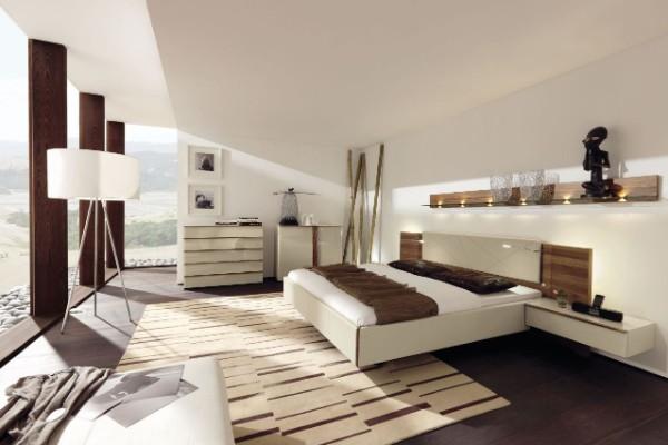 спальня в современном стиле просторная