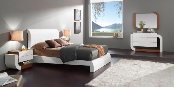 спальня в современном стиле серые стены