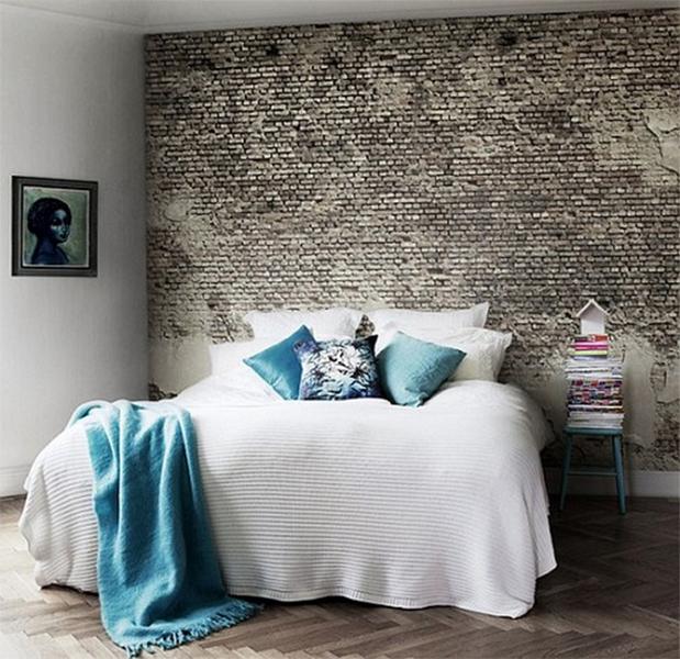 спальня в стиле скандинавский лофт