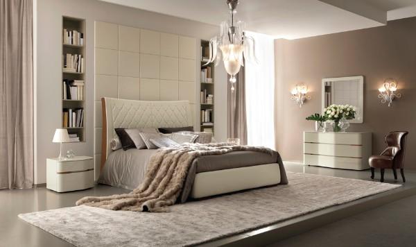 стильная современная спальня