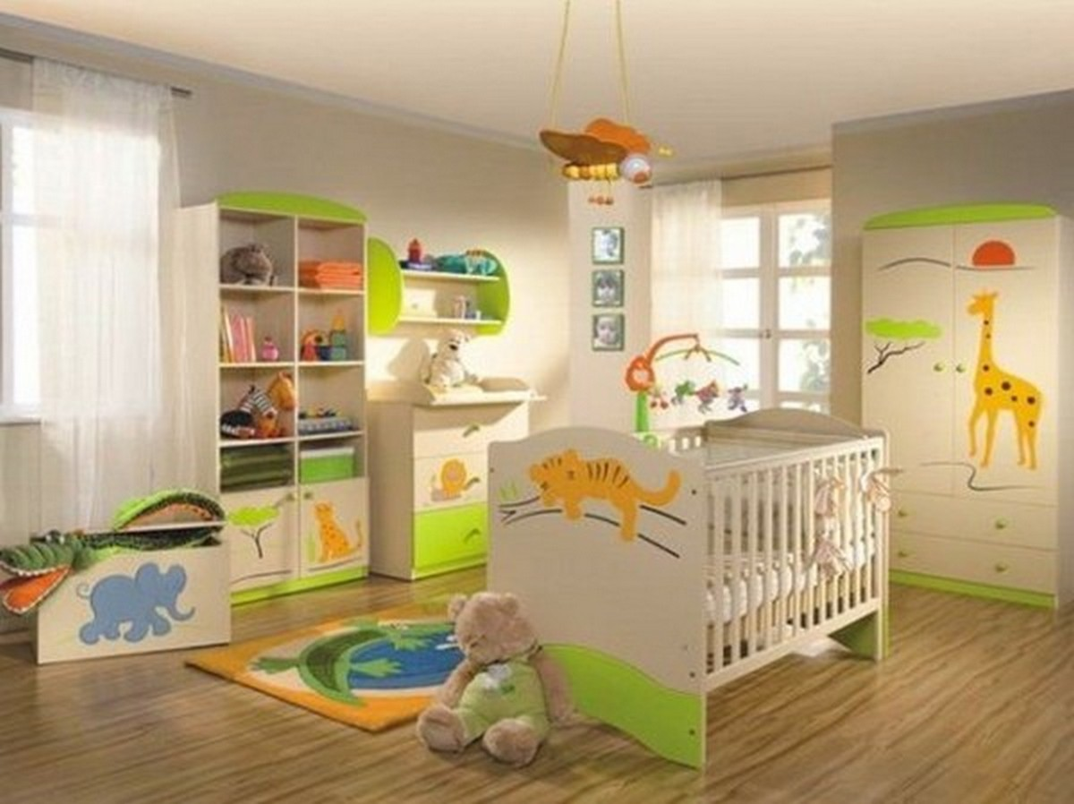 светлая детская комната дизайн освещения фото