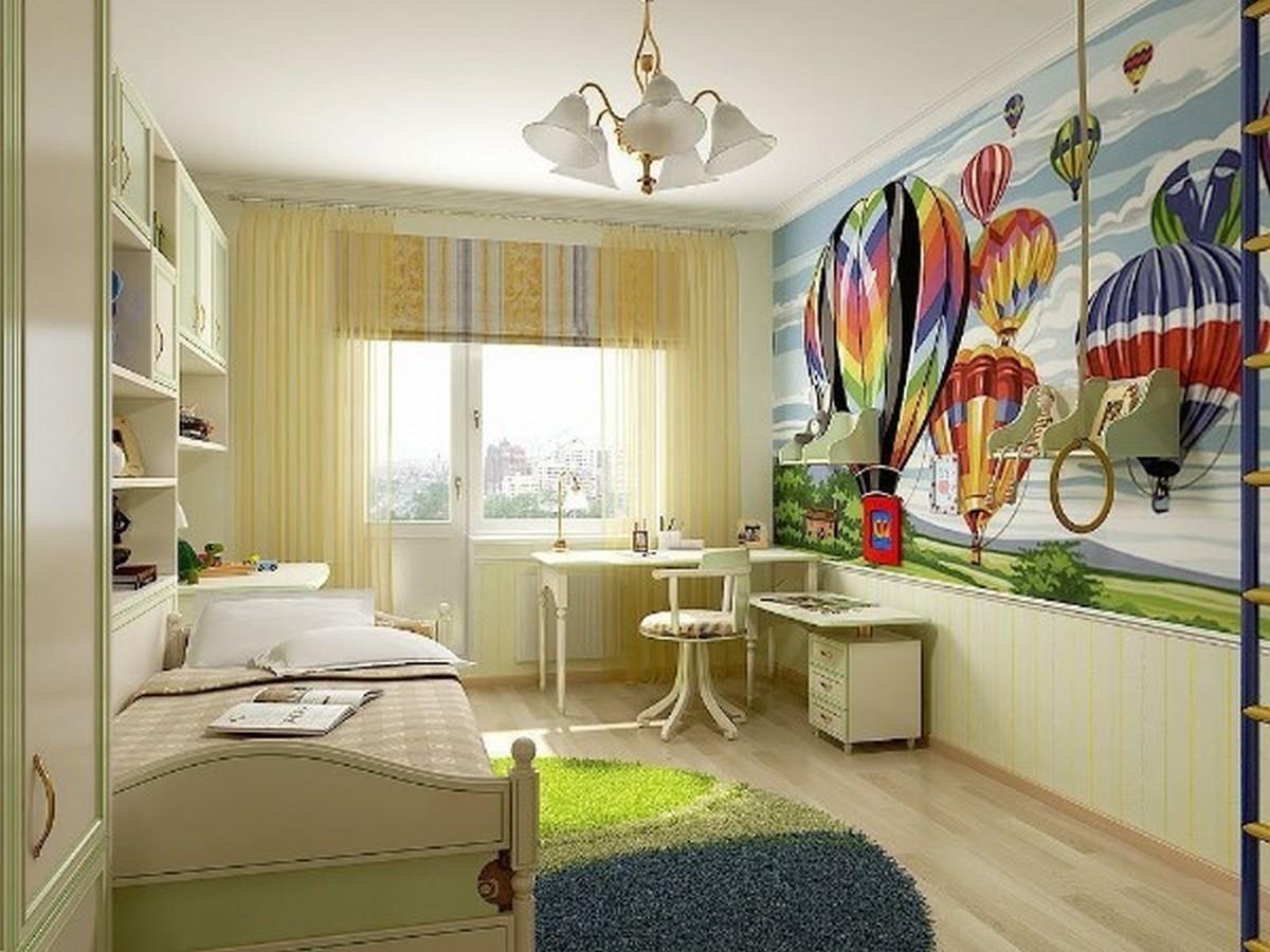 светлая детская комната для девочки освещение
