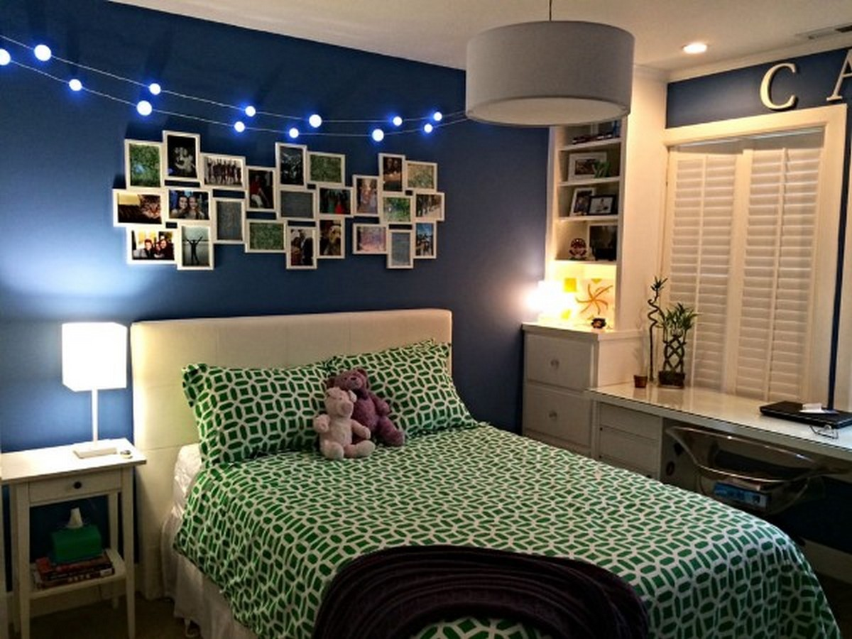 уютная детская комната для тинейджера дизайн освещения
