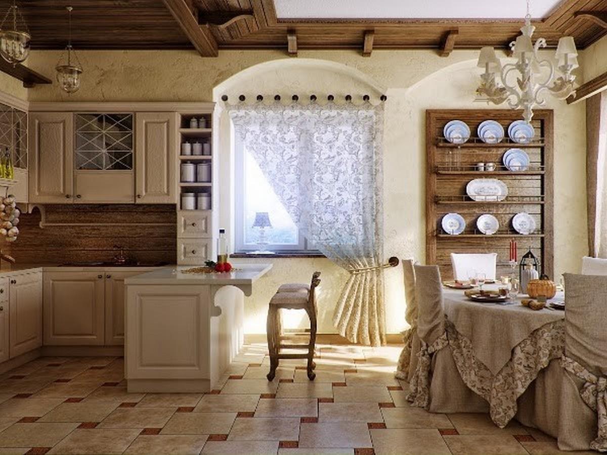 уютная кухня в английском стиле