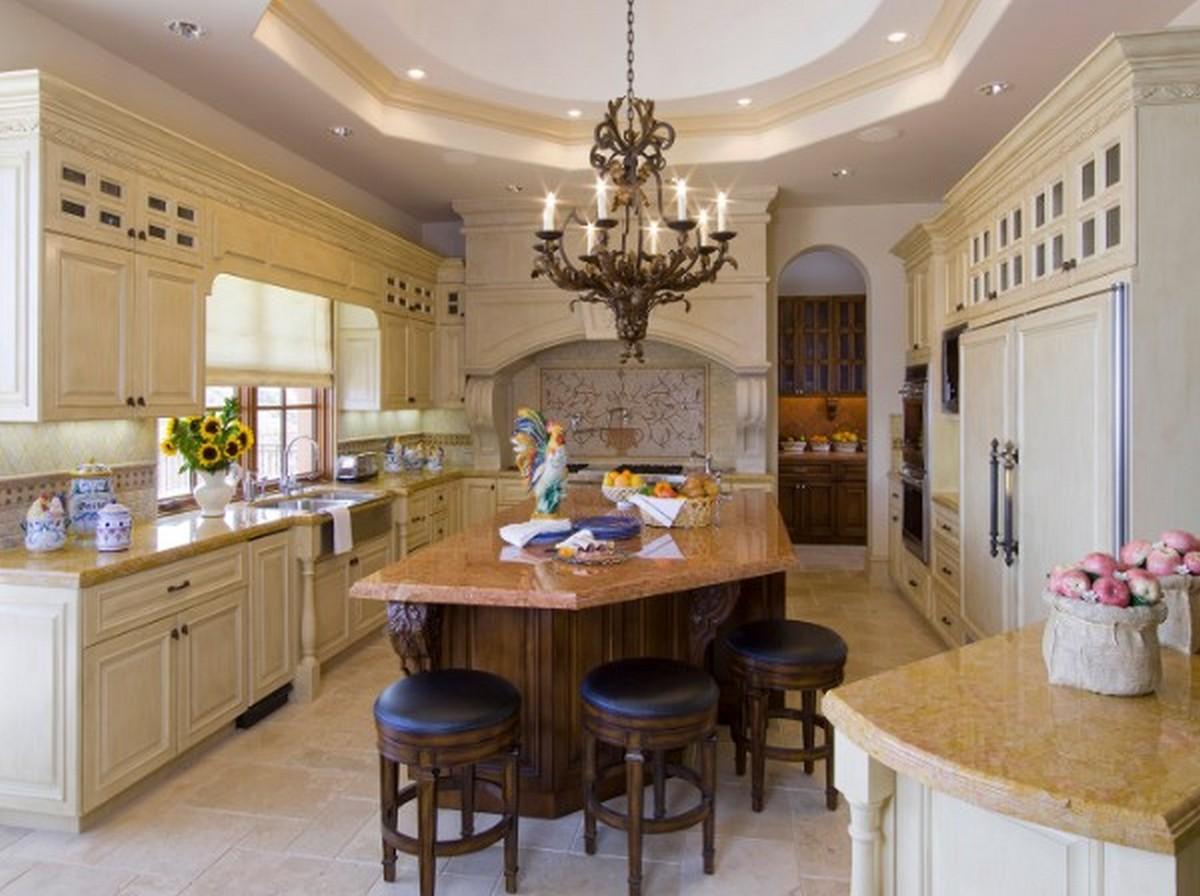 восхитительный интерьер светлая кухня в английском стиле