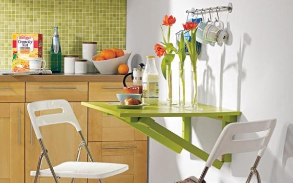 зелёный раскладной стол своими руками для кухни фото