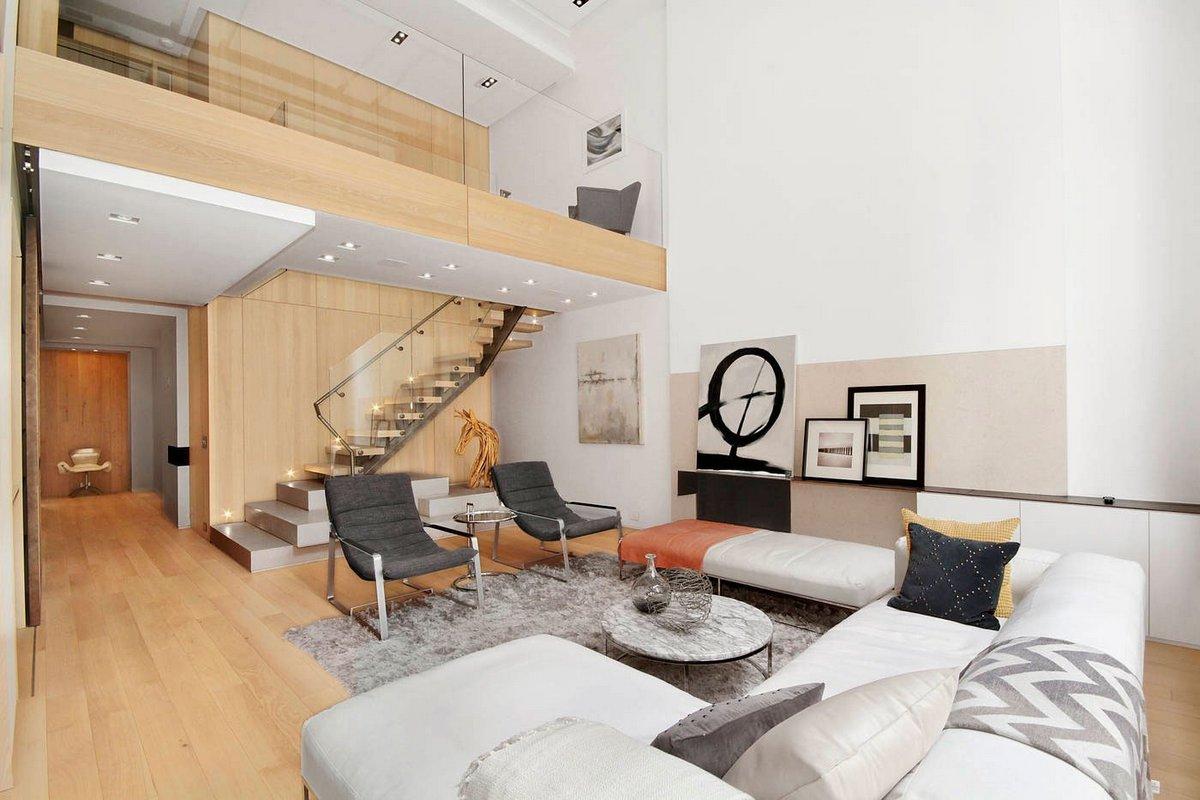 дизайн двухуровневой квартиры на фото