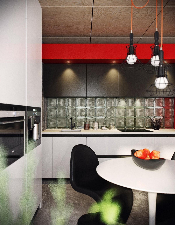дизайн двухуроневой квартиры в стиле лофт на фото