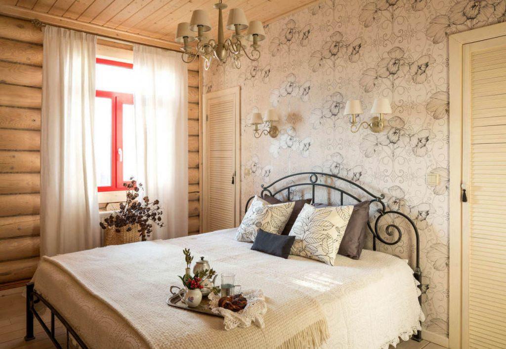 дизайн спальни в стиле кантри особенности