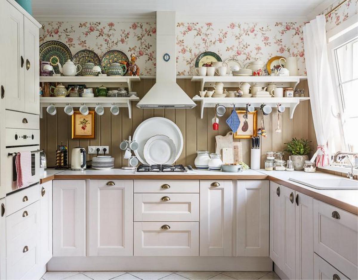 дизайн кухни в частном доме на фото