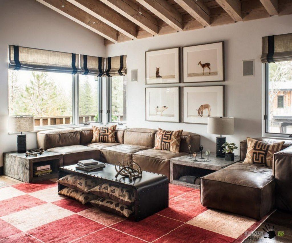дизайн маленького зала в частном доме фото