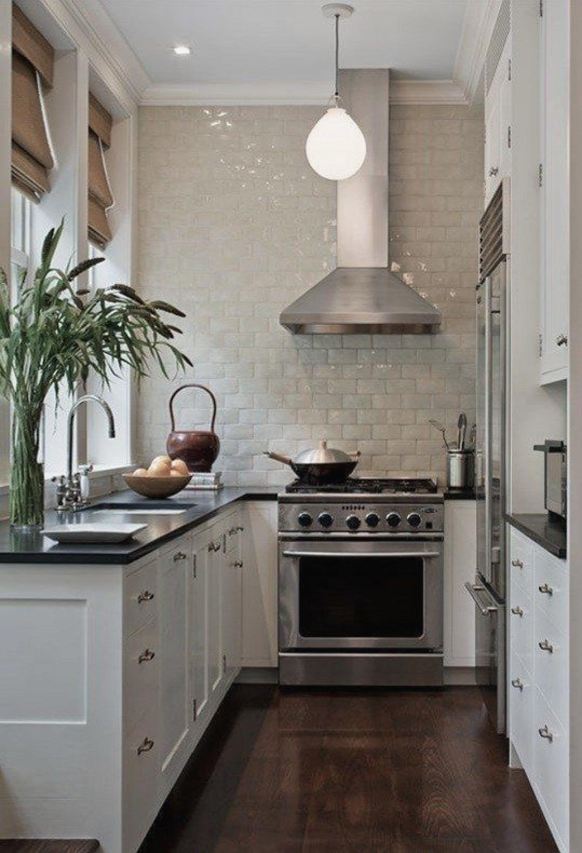 дизайн малогабаритной кухни ретро модерн