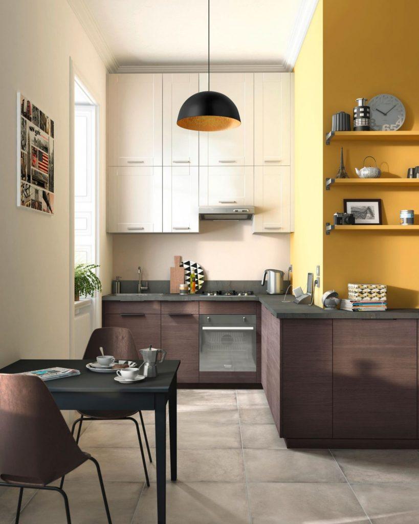 дизайн малогабаритной кухни с открытой планировкой