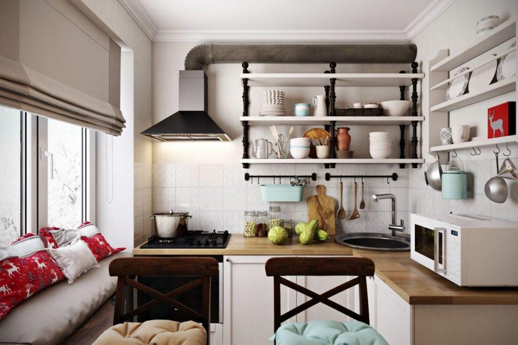 дизайн малогабаритной кухни угловой гарнитур