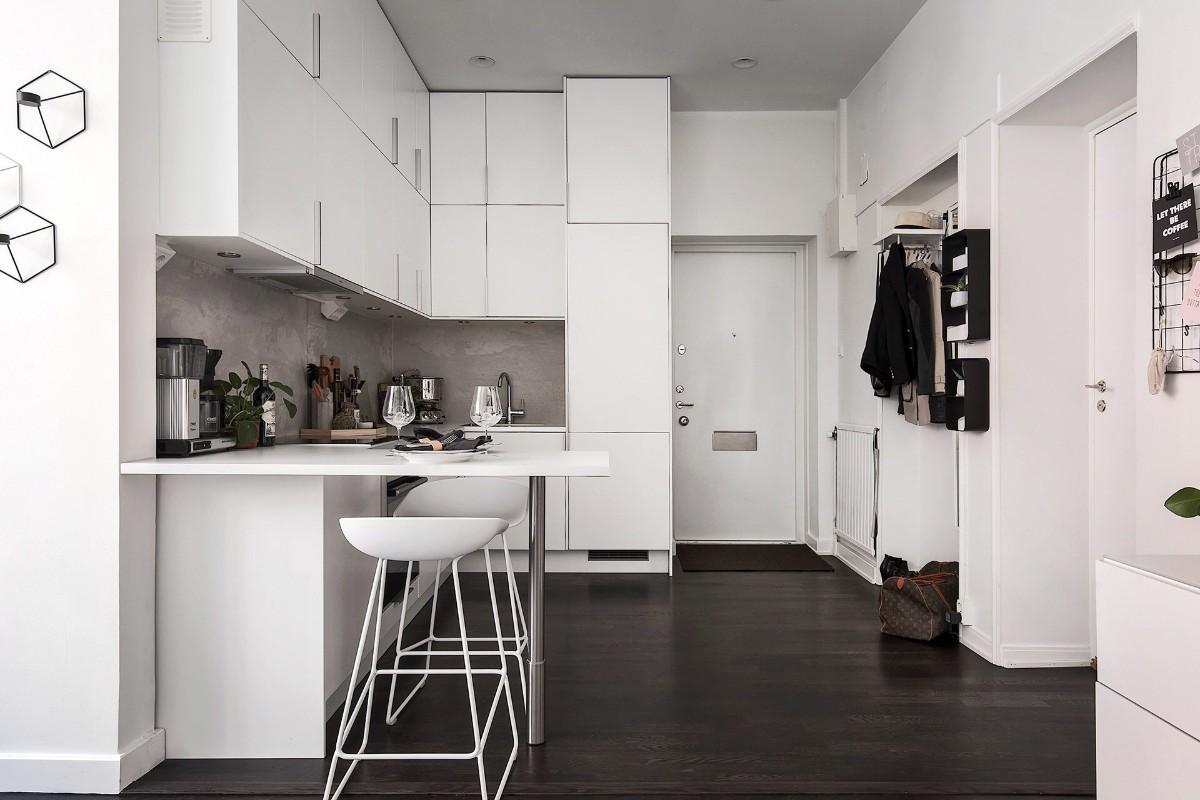 дизайн малогабаритной кухни в квартире студии