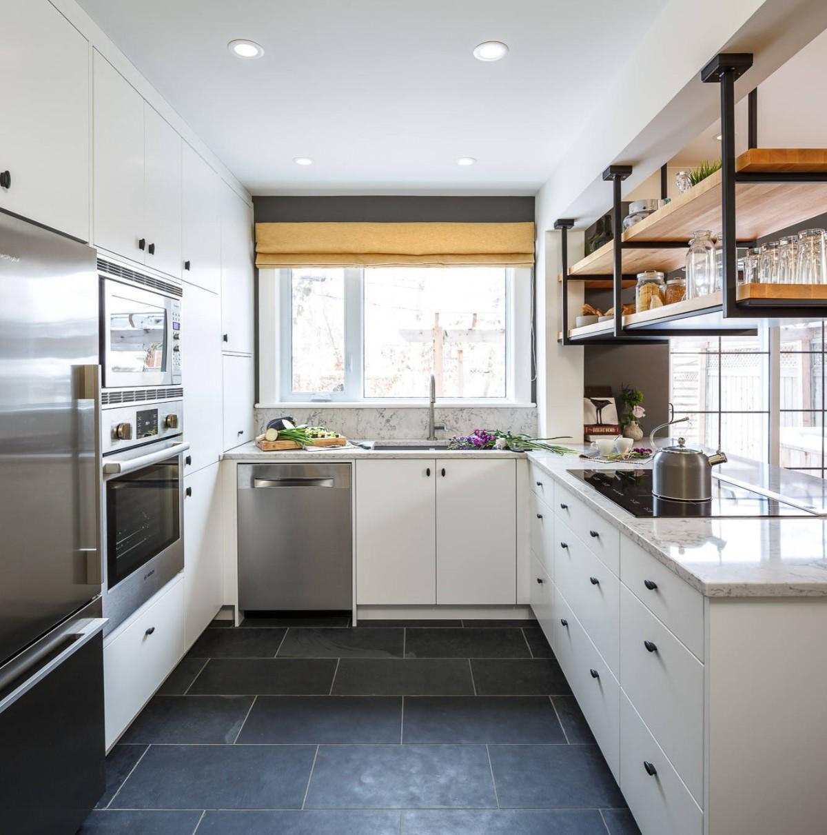 дизайн малогабаритной кухни встроенная техника