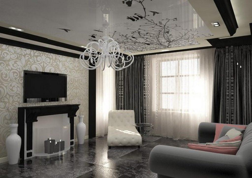 дизайн стен зала в частном доме фото