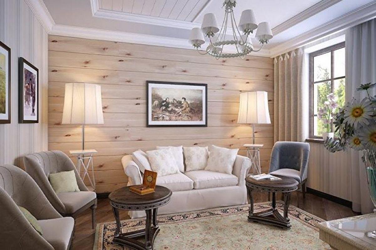 дизайн зала в частном доме обои современная классика