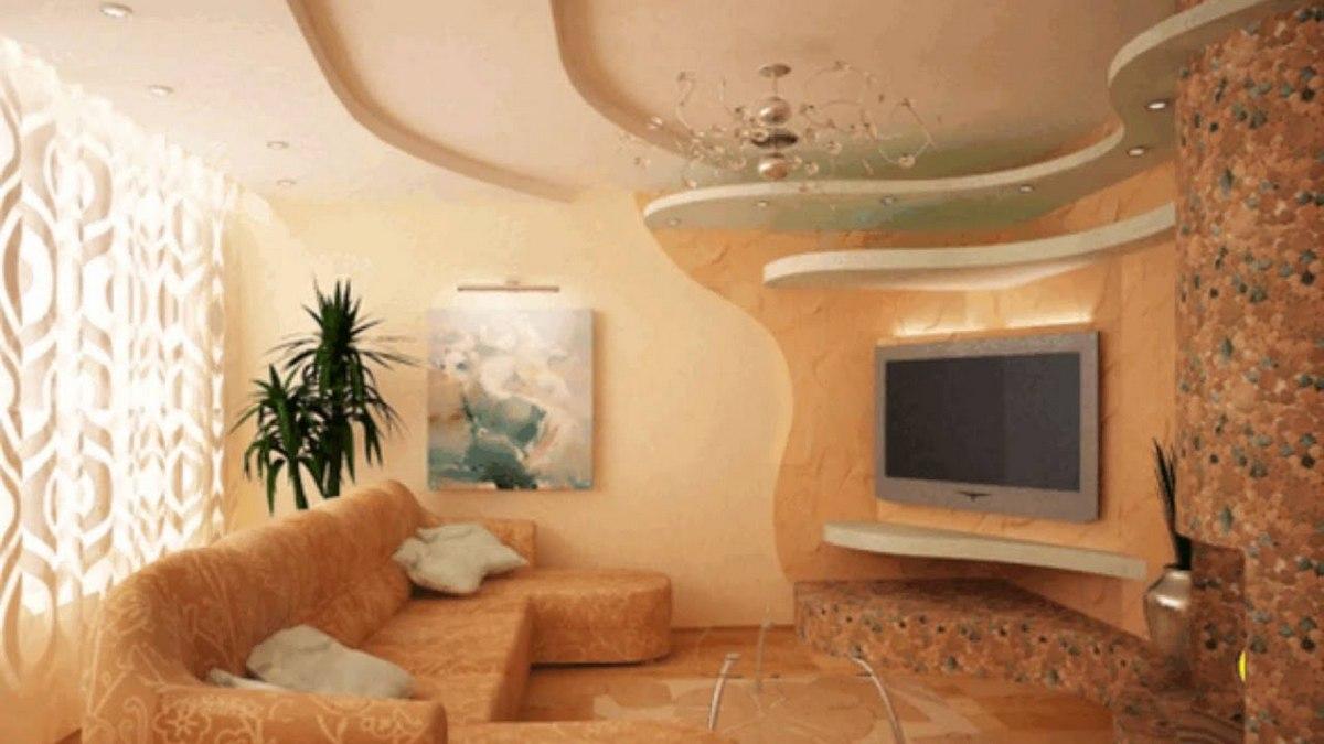 дизайн зала в частном доме обои варианты