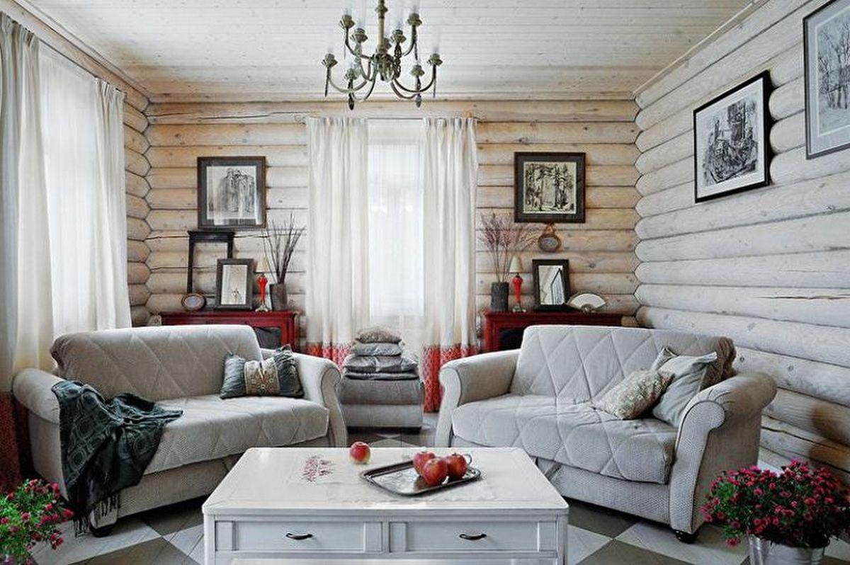 дизайн зала в частном доме стены
