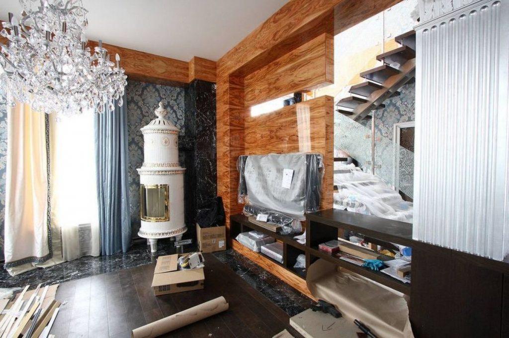 дизайн залы в частном доме фото