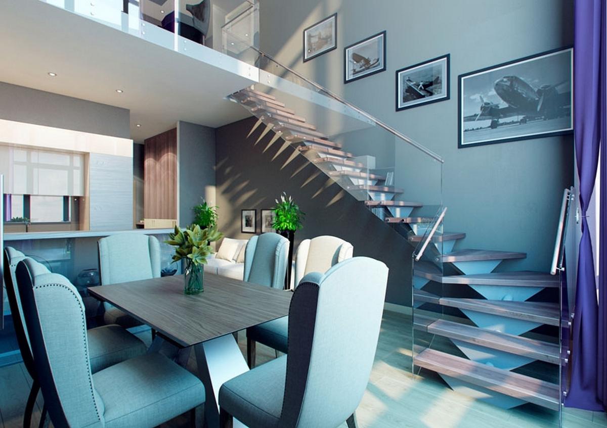 двухуровневые квартиры особенности дизайна и планировки