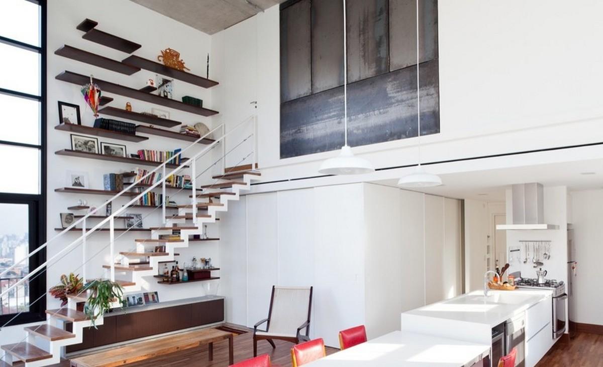 двухуровневая квартира интерьер на фото