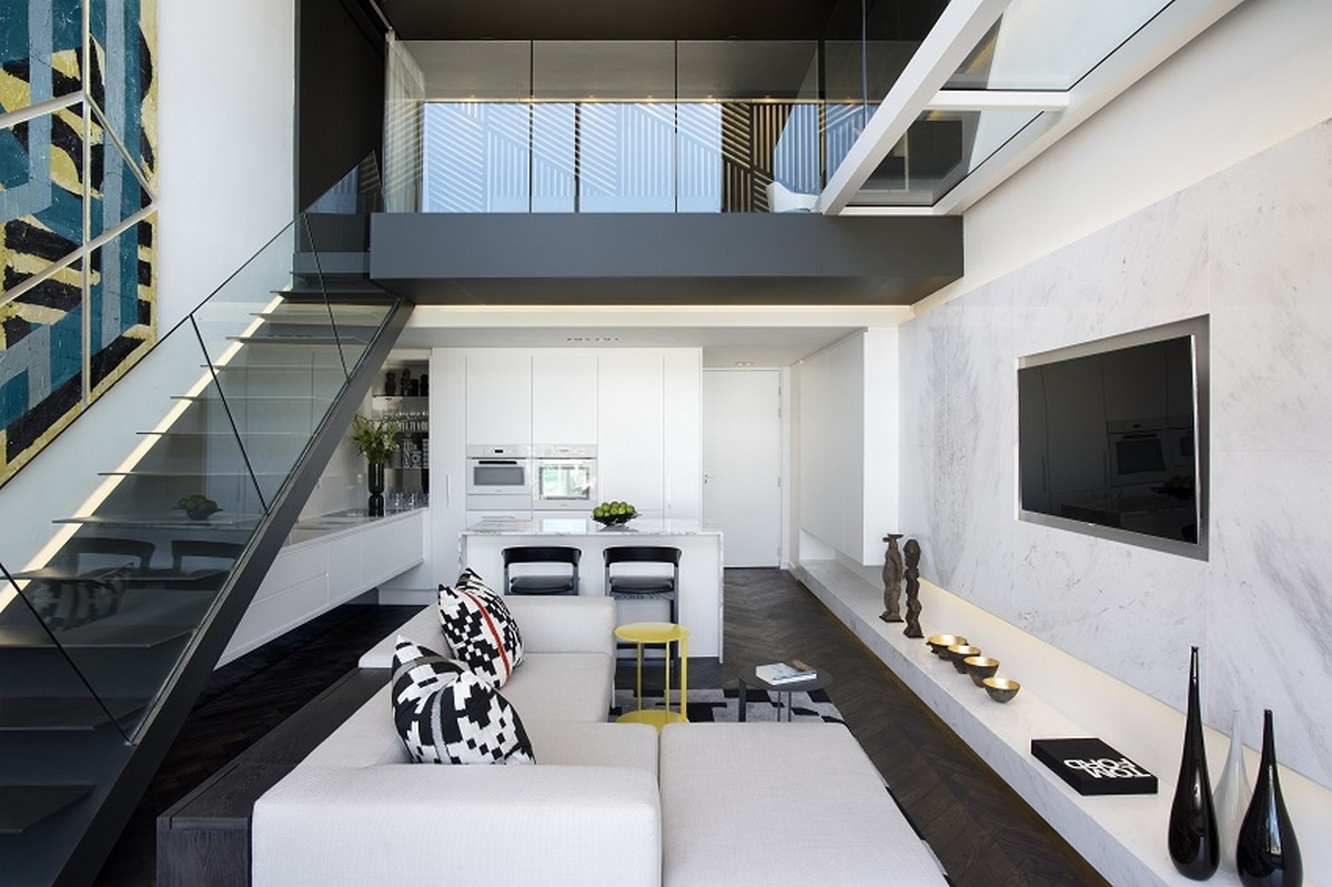 двухуровневая квартира интерьер пример