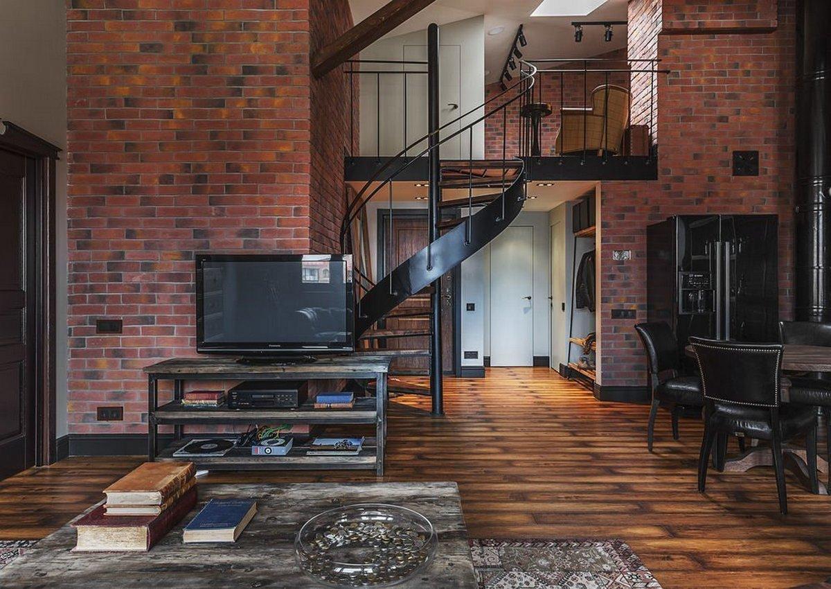 двухуровневая квартира студия лофт
