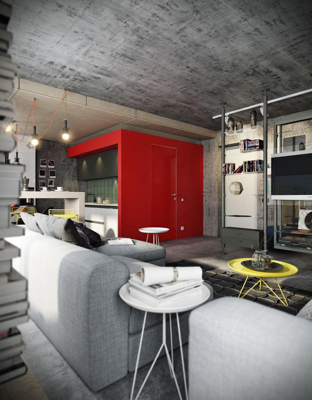двухуровневая однокомнатная квартира на фото