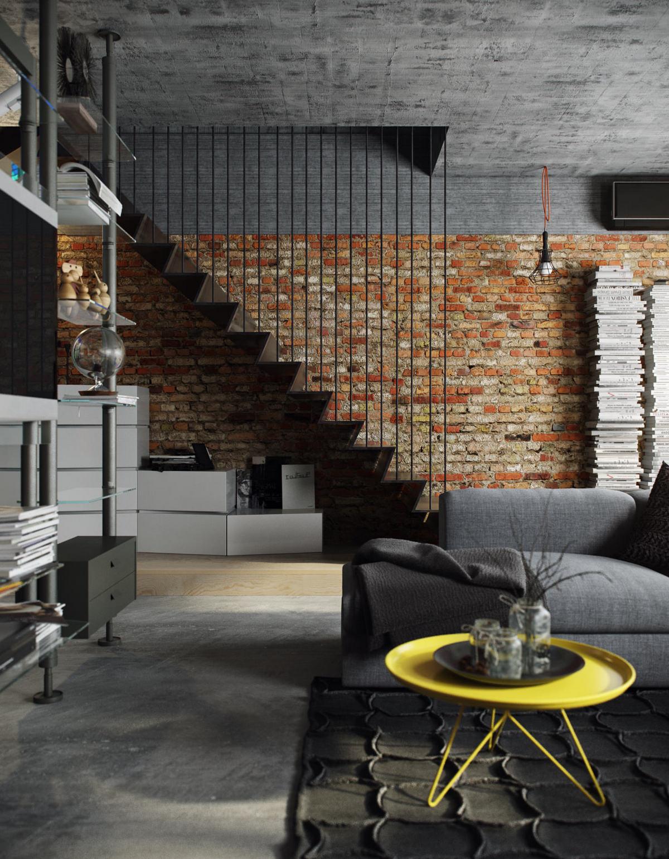 двухуровневая однокомнатная квартира