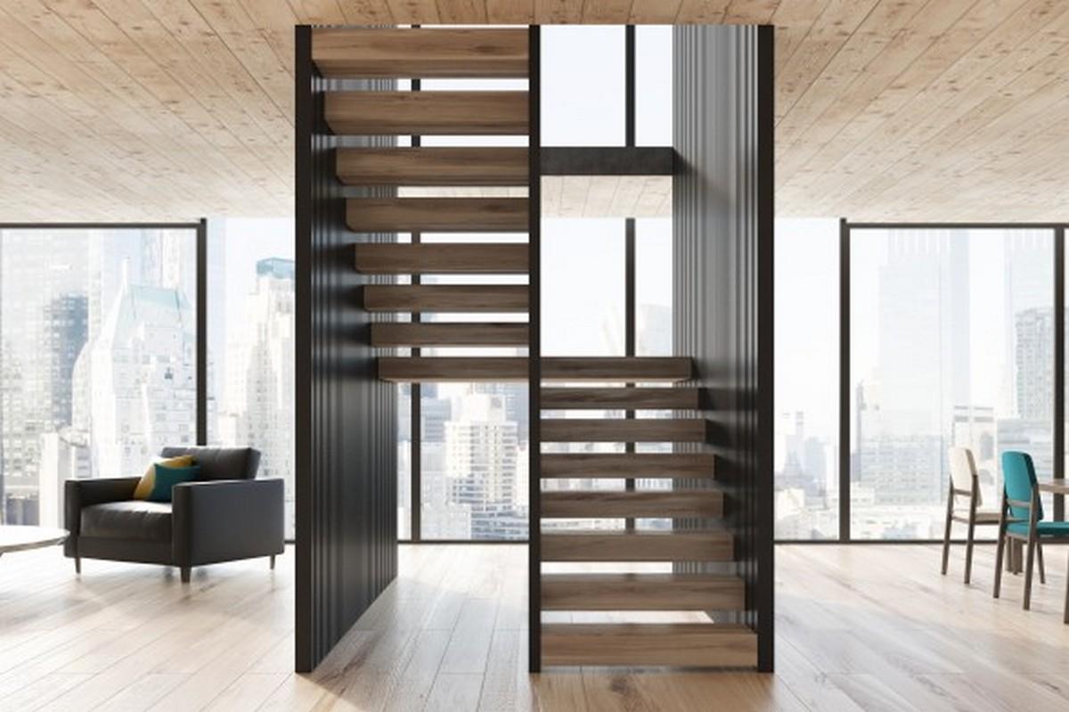 двухуровневые квартиры економ класса лестница