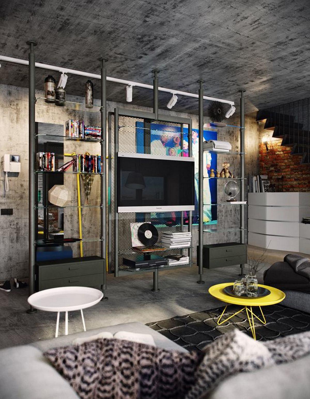двухуровневые квартиры фото интерьеров