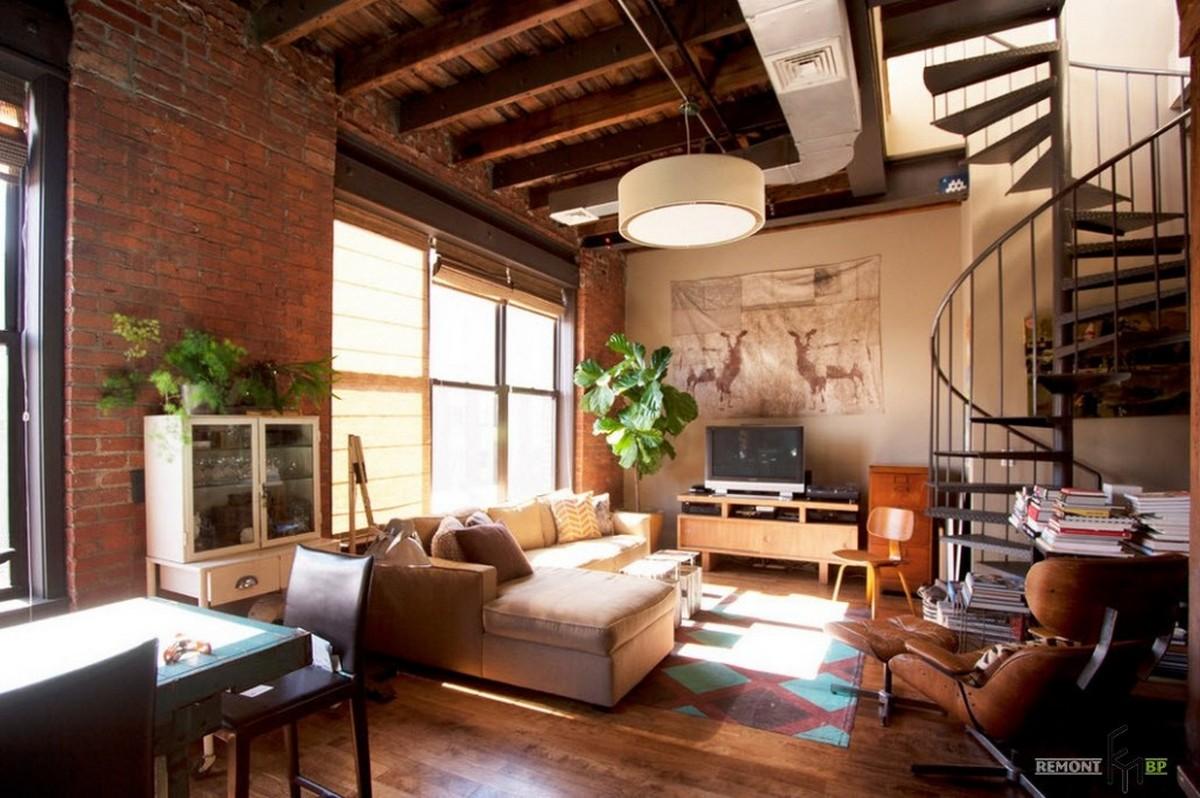 двухуровневые квартиры лофт
