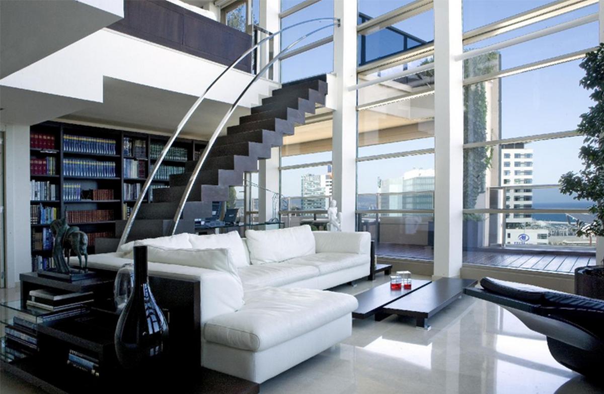 двухуровневые квартиры панорамные окна фото