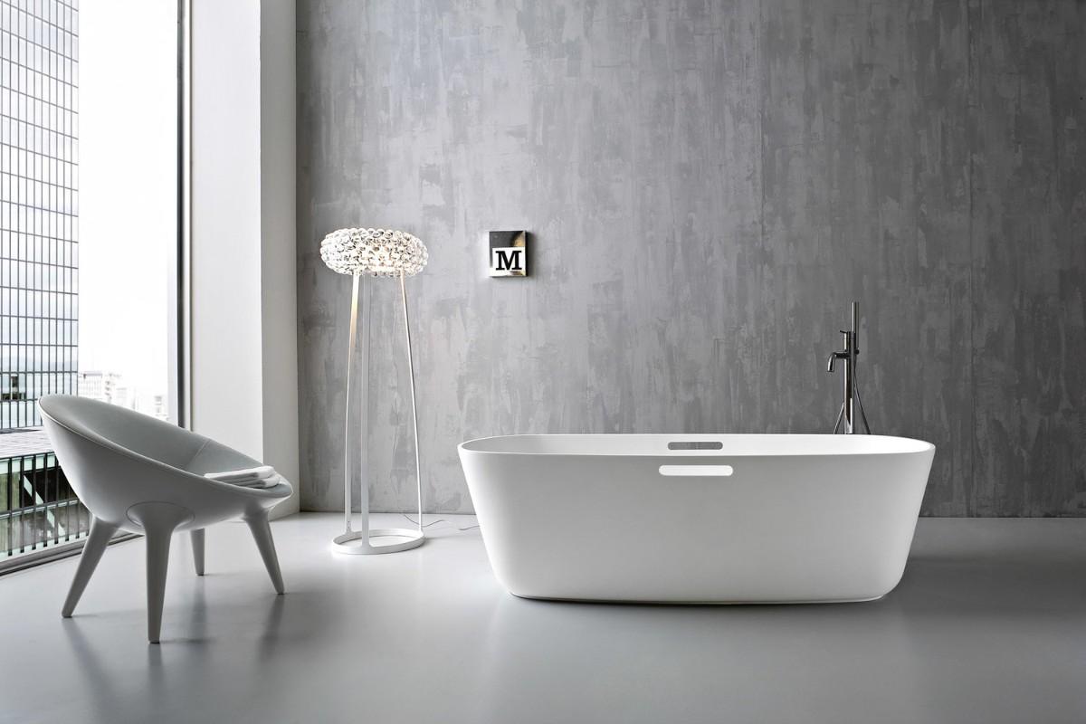 фактурная штукатурка в дизайне дорогой ванной