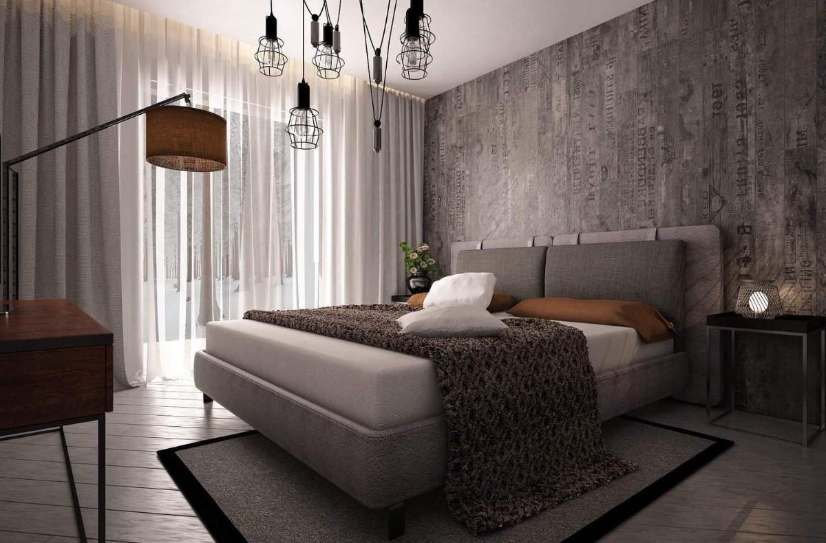 фактурная штукатурка в дизайне спальни