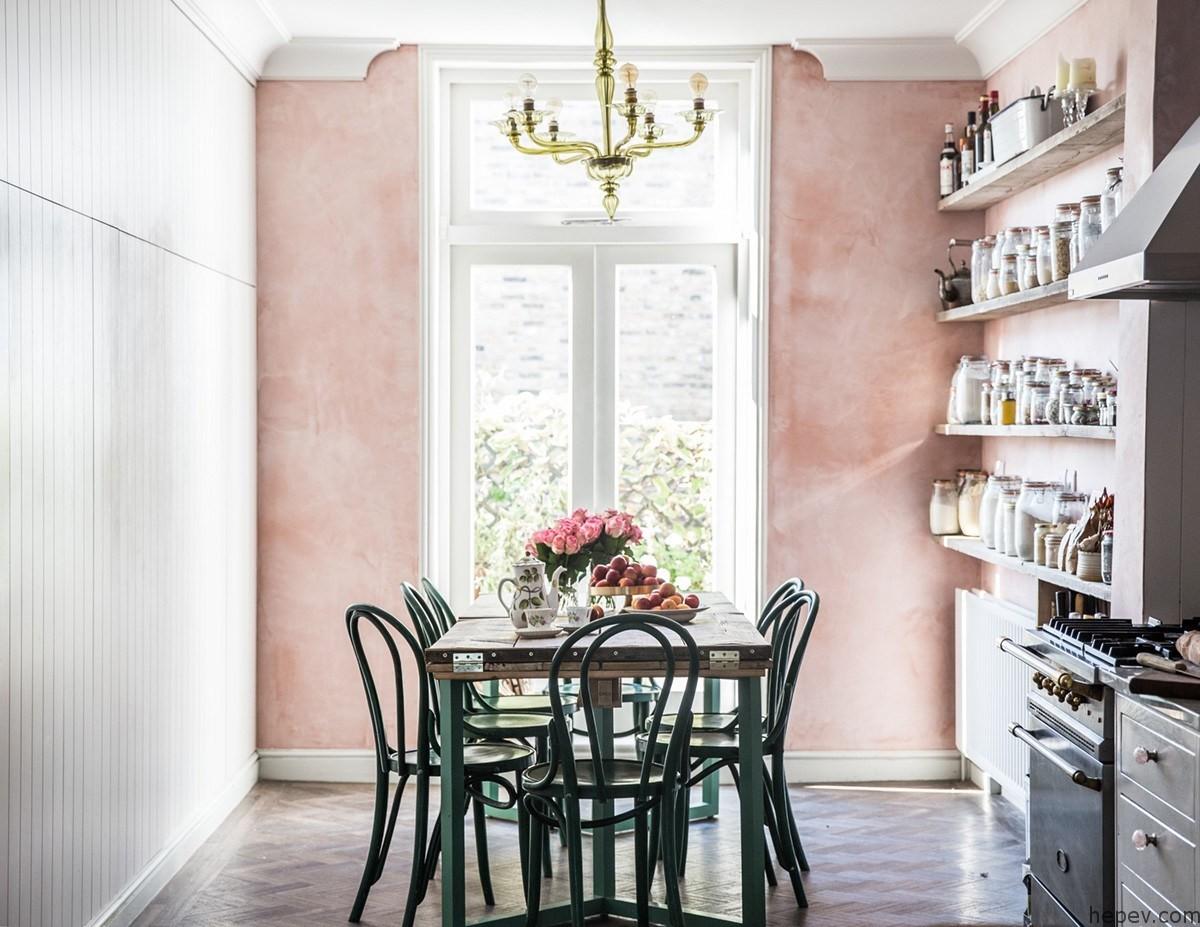 фактурная штукатурка в розовом цвете роскошный дизайн