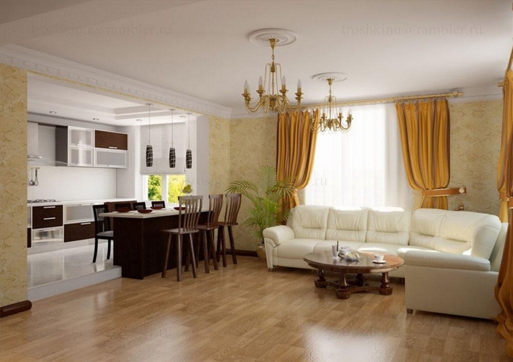 фото дизайна кухни гостиной