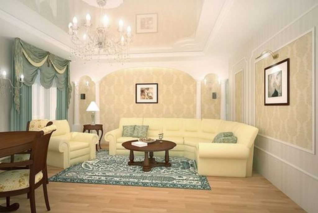 интерьер гостиной в доме
