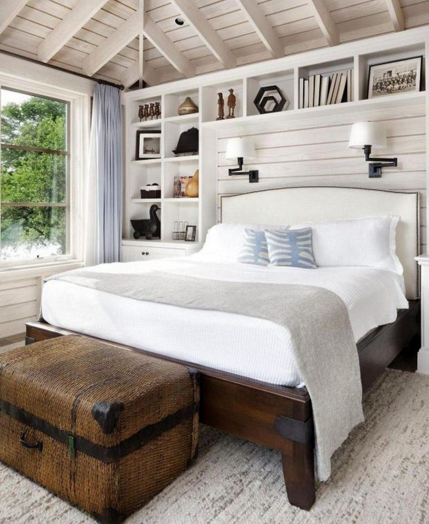 интерьер спальни в стиле кантри фото