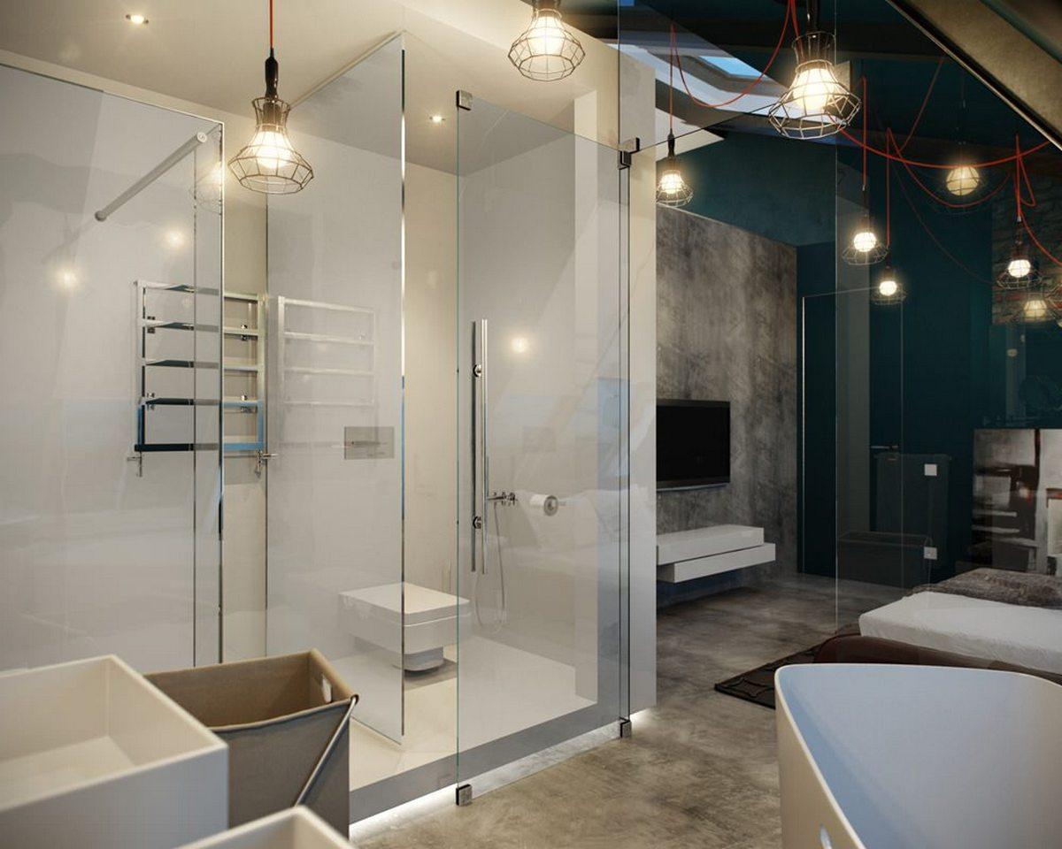 как сделать двухуровневую квартиру душ
