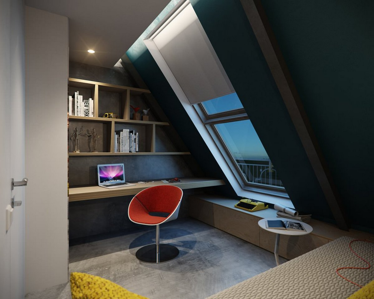 как сделать двухуровневую квартиру кабинет