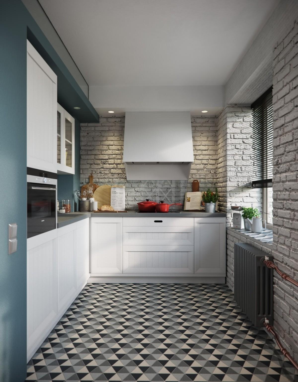 креативный дизайн малогабаритной кухни