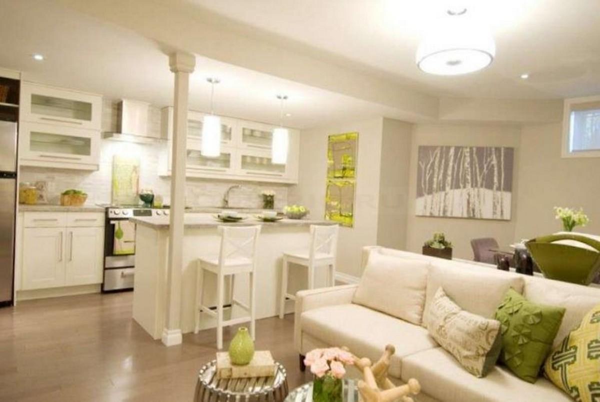 кухня гостиная в частном доме дизайн фото