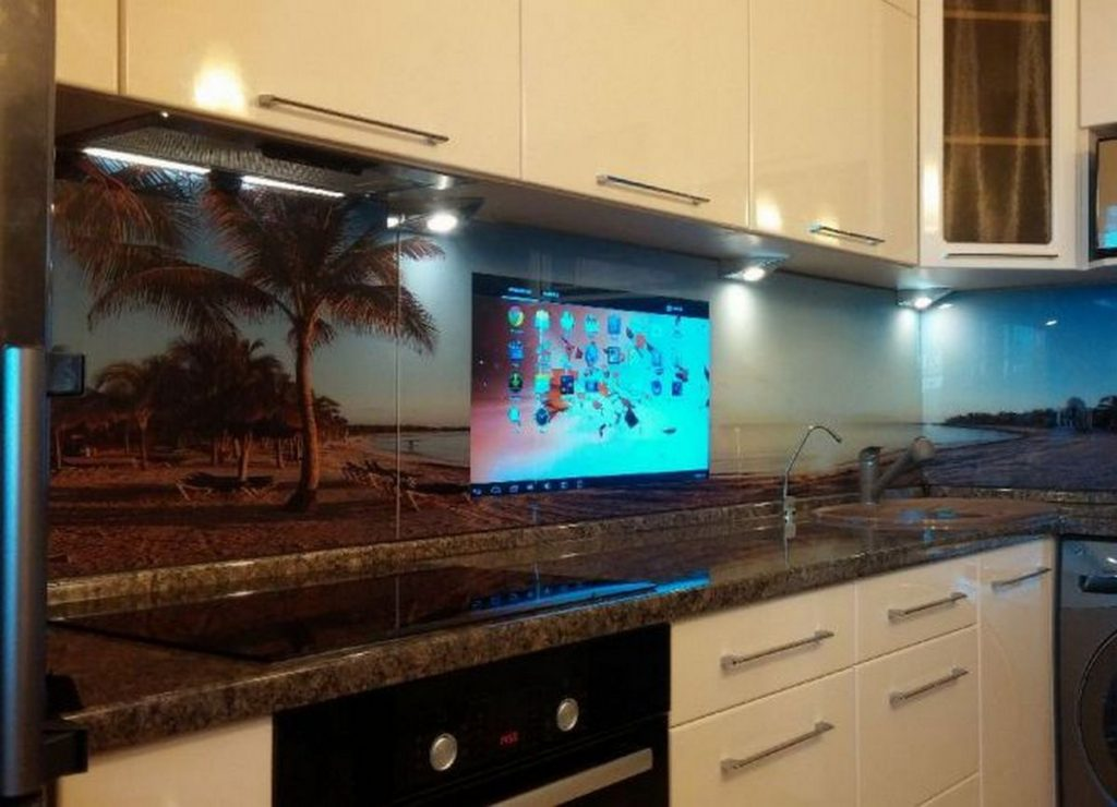 кухня с телевизором дизайн